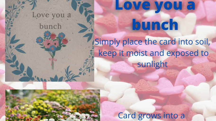 Plantable Gift Card Love you a bunch